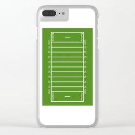 Football Field design Clear iPhone Case