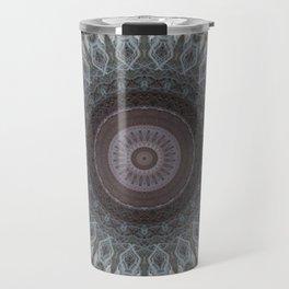 Mandala in grey and brown tones Travel Mug