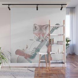 Fox musician plays guitar Wall Mural