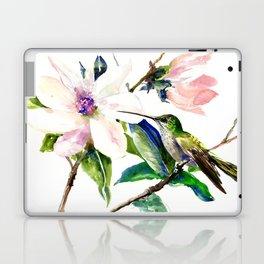 Hummingbird and Magnolia Flowers Laptop & iPad Skin