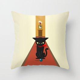 In the corridors Throw Pillow