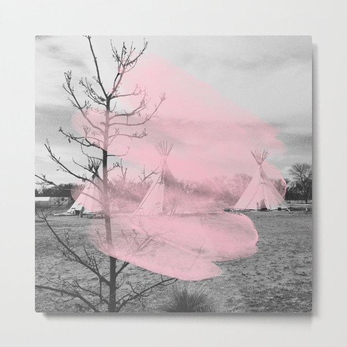 Pink Texas / Marfa Metal Print