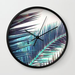 Nostalgic Palm Leaves #Decor #Vintage #BuyArt Wall Clock