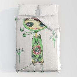 punk gree Comforters