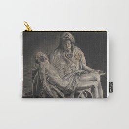 Statue -in charcoal Carry-All Pouch