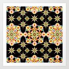 Sparkly Carousel Confetti Art Print