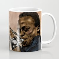 miles davis Mugs featuring Miles, jazz will never be the same by The Art Warriors