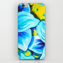 Blue Poppies 3 iPhone Skin