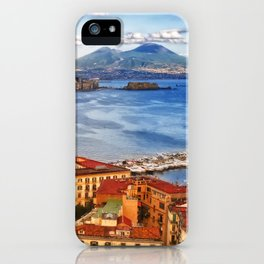 Italy, the gulf of Naples seen from the Posillipo hill iPhone Case