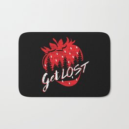 Get Lost in Strawberry and Pines Bath Mat