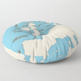 meteorological Shipping forecast. Floor Pillow