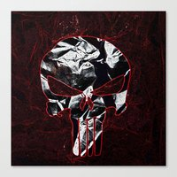 punisher Canvas Prints featuring Punisher 1 by Beastie Toyz