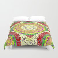 orange pattern Duvet Covers featuring Orange pattern  by MinaSparklina