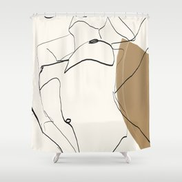abstract nude 2 Shower Curtain