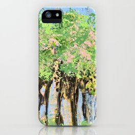 Drinking Wine under the Strawberry Trees iPhone Case