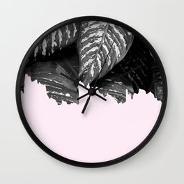 Tropical and pink Wall Clock