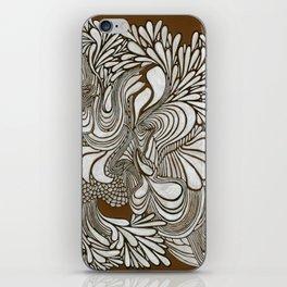 White Pattern iPhone Skin