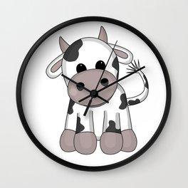 Cuddly Cow Wall Clock