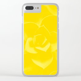 Succulent Plant Yellow Mellow Color #decor #society6 #buyart Clear iPhone Case