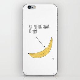Banana Shame iPhone Skin