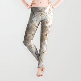 Beige abstract pattern . Leggings