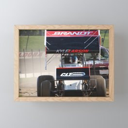 Kyle Larson motor heat Framed Mini Art Print