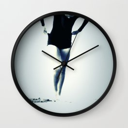 Woman Emerging Wall Clock