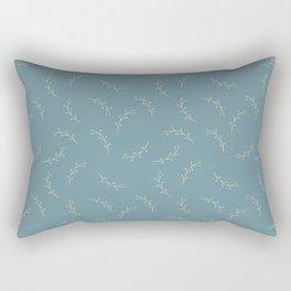 Ferns on Blue by Deirdre J Designs Rectangular Pillow