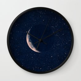 SPACE / Crescent Moon Wall Clock