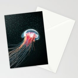 Jellyfish deep sea ocean creature illustration home decor drawing Stationery Cards