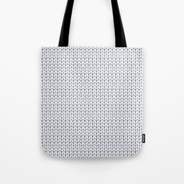 Knitted pattern. Tote Bag