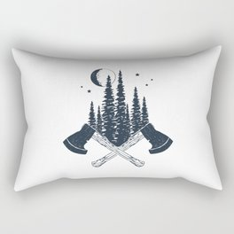 Axes. Double Exposure Rectangular Pillow