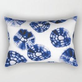 Shibori Kumo dots blue & white Rectangular Pillow