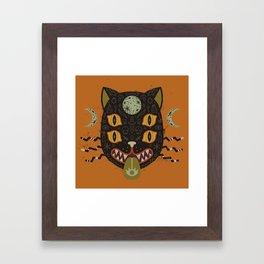 Spooky Cat Framed Art Print