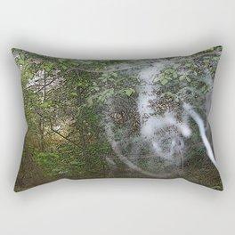 Through the wood line. Rectangular Pillow