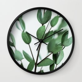 Leaves 6 Wall Clock