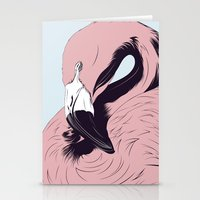 flamingo Stationery Cards featuring Flamingo by CranioDsgn