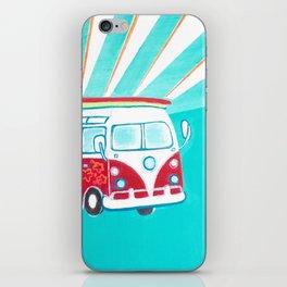 Surfer Sunrise iPhone Skin