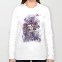 optimus prime Long Sleeve T-shirts featuring G1 - Optimus Prime by DesignLawrence