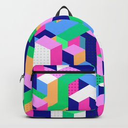Vintage Video Game Geometric Steps Backpack