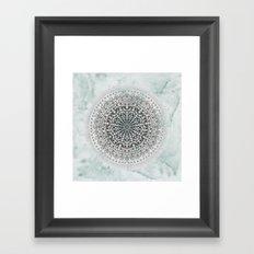 ICELAND MANDALA Framed Art Print