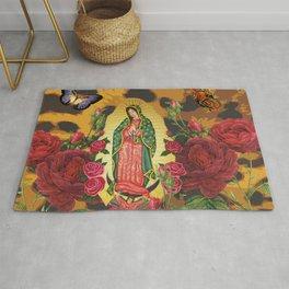 Virgen de Guadalupe Leopard Rug