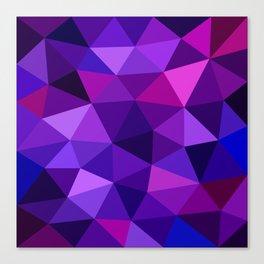 Crystal Galaxy Low Poly Canvas Print
