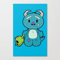 monster inc Canvas Prints featuring Hello Monster by Pimator24