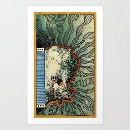 OCEAN MADE OF SAND Art Print