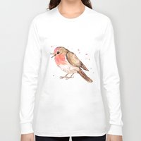 robin Long Sleeve T-shirts featuring Robin by Bwiselizzy