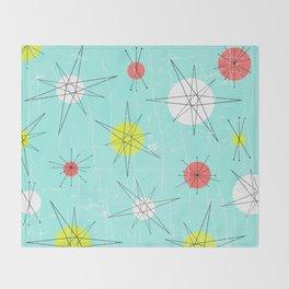 Atomic Era Art Throw Blanket