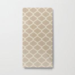 Ogee pattern Gray Metal Print