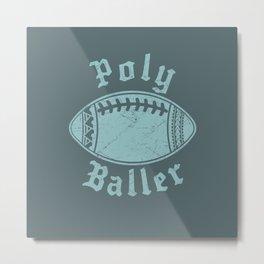 Polynesian Football Family Metal Print