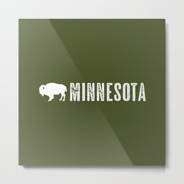 Bison: Minnesota Metal Print